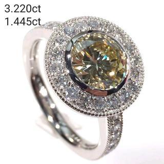 ✨宝石の王降臨✨圧倒的存在美…✨4ctダイヤモンド ラグジュアリーリング(リング(指輪))