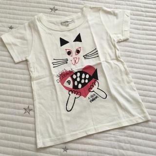 エーキャンビー(A CAN B)の美品 110 A canB エーキャンビー  Tシャツ ネコ 猫(Tシャツ/カットソー)