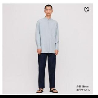 ユニクロ(UNIQLO)のUNIQLO u デニムスタンドカラーシャツ(シャツ)