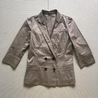 ユニクロ(UNIQLO)のジャケット/七分袖/グレージュ/M(テーラードジャケット)