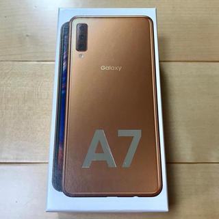 ギャラクシー(Galaxy)の【新品・未開封】ギャラクシーA7 ゴールド 64GB SIMフリー Galaxy(スマートフォン本体)