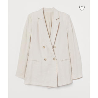 エイチアンドエム(H&M)の【新品未使用タグ付き】H&M ダブルブレストジャケット 34(テーラードジャケット)