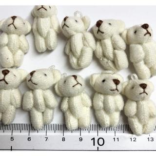 10個ミニクマ白(各種パーツ)