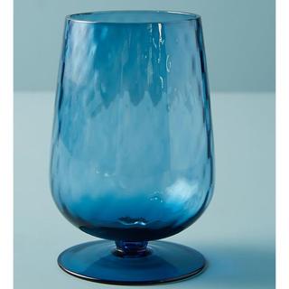 アンソロポロジー(Anthropologie)のアンソロポロジー ゴブレット ブルー 4点セット 新品(グラス/カップ)