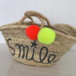ファティマモロッコ(Fatima Morocco)のFatima Morocco バスケット smile☆(かごバッグ/ストローバッグ)