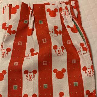 ディズニー(Disney)のミッキー カーテン 二枚組(カーテン)