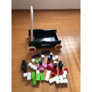 ブリオ(BRIO)の専用!!ブリオ手押し車&積み木セット(手押し車/カタカタ)