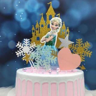 ディズニー(Disney)のケーキトッパー プリンセス  E エルサ バースデー ケーキ パーティー (その他)
