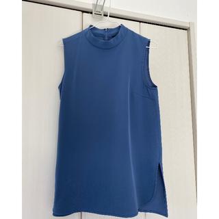 ユニクロ(UNIQLO)のユニクロドレープハイネックノースリーブブラウスM(シャツ/ブラウス(半袖/袖なし))