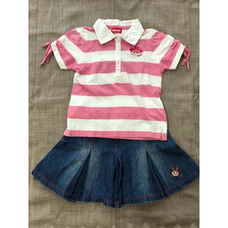 インナープレス(INNER PRESS)のインナー プレス 半袖カットソー&スカート  110cm(Tシャツ/カットソー)
