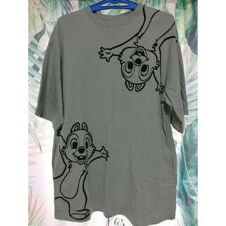 チップアンドデール(チップ&デール)のチップ&デール オーバーサイズTシャツワンピース(Tシャツ(半袖/袖なし))