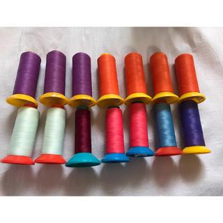 グンゼ(GUNZE)のお買い得●ミシン糸 60番 7色 14本まとめて(生地/糸)