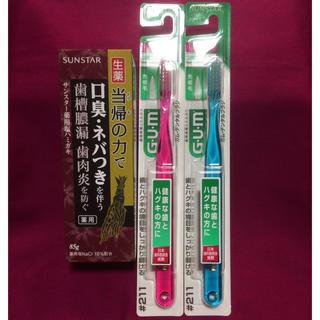 サンスター(SUNSTAR)のサンスター 薬用塩歯磨き粉  生薬 当帰の力で&ガム・デンタルブラシ2本(歯磨き粉)