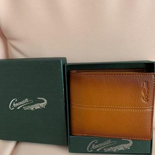 クロコダイル(Crocodile)の専用 Crocodile 折りたたみ財布 収納力あり(折り財布)