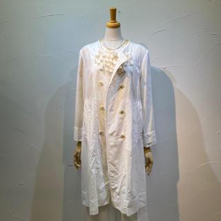 カミシマチナミ(KAMISHIMA CHINAMI)のカミシマチナミ 一枚仕立てコートワンピース 極上の綿素材です。(ロングコート)