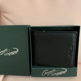 クロコダイル(Crocodile)の専用 Crocodile 折りたたみ財布 黒(折り財布)