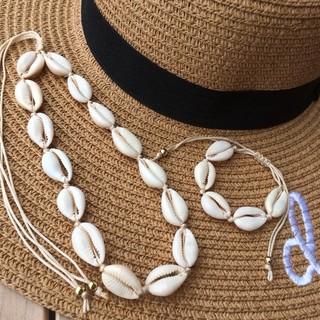 シールームリン(SeaRoomlynn)の高品質 カウリーシェル ネックレス チョーカー ブレスレット セットタカラガイ♡(ネックレス)
