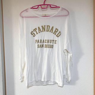 ビューティアンドユースユナイテッドアローズ(BEAUTY&YOUTH UNITED ARROWS)のビューティアンドユース 日本製 ロンT ロゴTシャツ ホワイト (カットソー(長袖/七分))