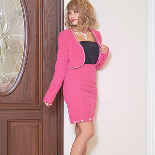 デイジーストア(dazzy store)のピンク ♡ キャバスーツ ♡ (スーツ)