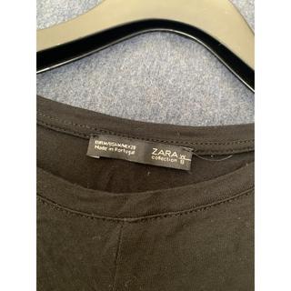 ザラ(ZARA)のZARA ブラック ロングTシャツ(Tシャツ(長袖/七分))