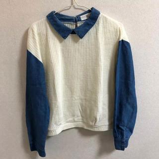 アルピーエス(rps)のr.p.s 青デニム袖セーター(ニット/セーター)