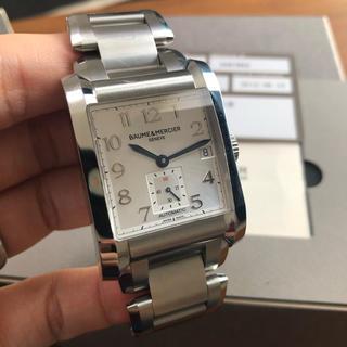 ボームエメルシエ(BAUME&MERCIER)のボーム&メルシェ ハンプトン 青針 シルバー文字盤(腕時計(アナログ))