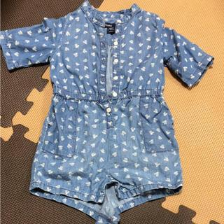 babyGAP デニム 小花柄 ロンパース 80cm(ロンパース)
