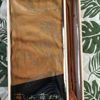 帯揚げ&帯締めセット 正絹 桐箱入(和装小物)