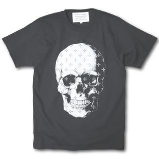 送料込み クロス柄スカルTシャツ グレー(Tシャツ/カットソー(半袖/袖なし))