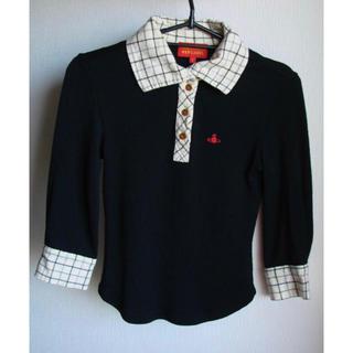 ヴィヴィアンウエストウッド(Vivienne Westwood)のヴィヴィアンウエストウッド シャツ襟 七分袖 トップス カットソー(カットソー(長袖/七分))