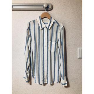 エキプモン(Equipment)のEquipment エキプモン ステッチ風ストライプ シルク シャツです。(シャツ/ブラウス(長袖/七分))