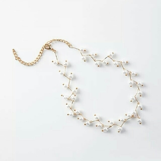 アダムエロぺ(Adam et Rope')のimport pearl choker necklace(ネックレス)