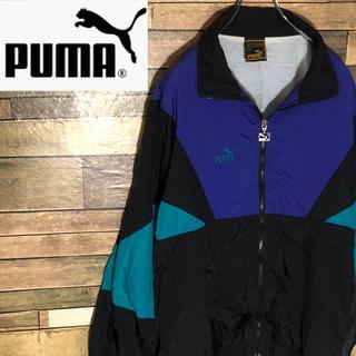プーマ(PUMA)の【激レア】 プーマ  ナイロンジャケット 胸刺繍ロゴ クレイジーパターン(ナイロンジャケット)