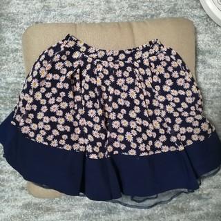 アドリー(ADREE)のADREE 花柄 紺色 スカート(ミニスカート)