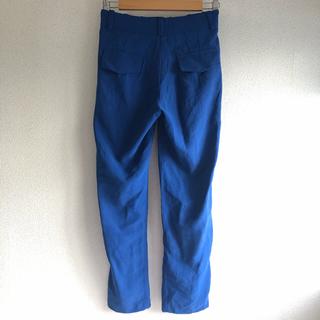 インフルエンス(Influence)の色鮮やかなブルー*てろんとした綺麗目パンツ(カジュアルパンツ)