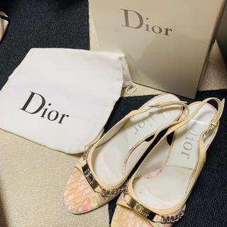 クリスチャンディオール(Christian Dior)のDior ミュール 9cm 正規店購入 ロゴ ピンク 37(ミュール)
