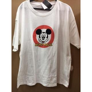 ディズニー(Disney)の新品 4L 白 レディース ミッキー Tシャツ クラシック レトロ ディズニー(Tシャツ(半袖/袖なし))