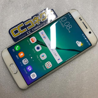 ギャラクシー(Galaxy)のSoftBank Galaxy S6 edge 404SC ホワイト ジャンク(スマートフォン本体)