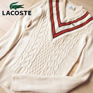 ラコステ(LACOSTE)の毛100% ラコステ 38(M位) レディース ニット アイボリー(ニット/セーター)