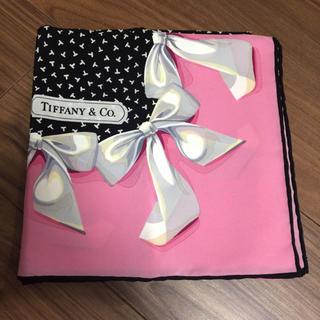 ティファニー(Tiffany & Co.)のティファニー スカーフ 大判 ピンク(バンダナ/スカーフ)