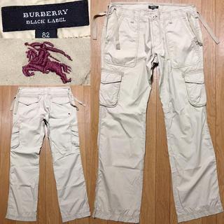 バーバリーブラックレーベル(BURBERRY BLACK LABEL)のBURBERRY送料込バーバリーブラックレーベル美品カーゴパンツ薄手夏ホース刺繍(ワークパンツ/カーゴパンツ)