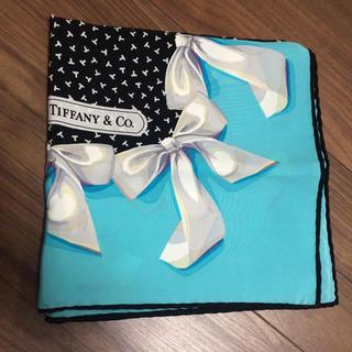 ティファニー(Tiffany & Co.)のティファニー スカーフ 大判 ティファニーブルー(バンダナ/スカーフ)