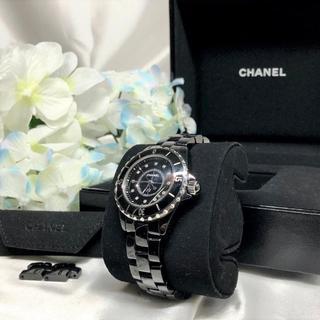 シャネル(CHANEL)の美品★ シャネル J12 ダイヤ 腕時計 H1625(腕時計(アナログ))