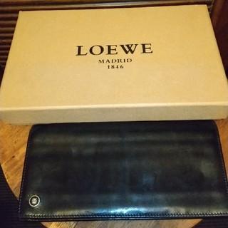 ロエベ(LOEWE)のLOEWE LOEWE 財布 カーフレザー 薄型(長財布)