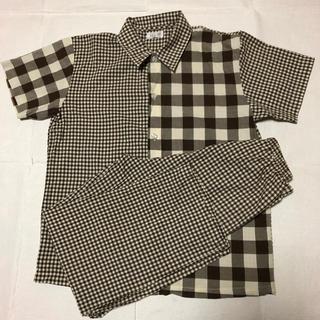 ワコール(Wacoal)の美品 ワコール 半袖 パジャマ  140 無印良品 135 チェック(パジャマ)