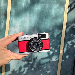 オリンパス(OLYMPUS)のOLYMPAS TRIP 35 【RED】整備品、完動品、キャップ付(フィルムカメラ)