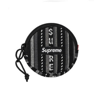 シュプリーム(Supreme)のsupreme woven stripe coin pouch black(コインケース/小銭入れ)