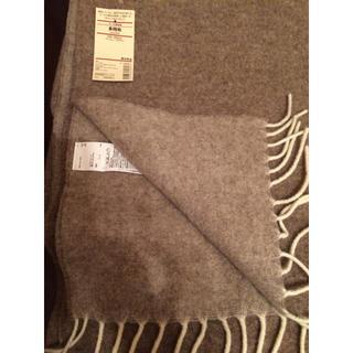 ムジルシリョウヒン(MUJI (無印良品))のウール100%  毛布  スロー(毛布)