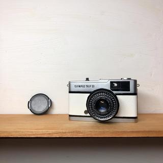 オリンパス(OLYMPUS)のOLYMPAS TRIP 35【WHITE】整備品、完動品、キャップ付き(フィルムカメラ)