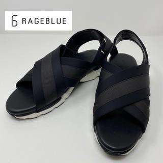レイジブルー(RAGEBLUE)の未使用☺︎RAGEBLUE レイジブルー サンダル ブラック 黒 クロス(サンダル)